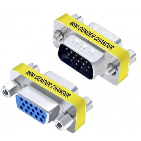 Mini Gender Changer VGA DB 15 poli HD M/F IADAP 736-15HD