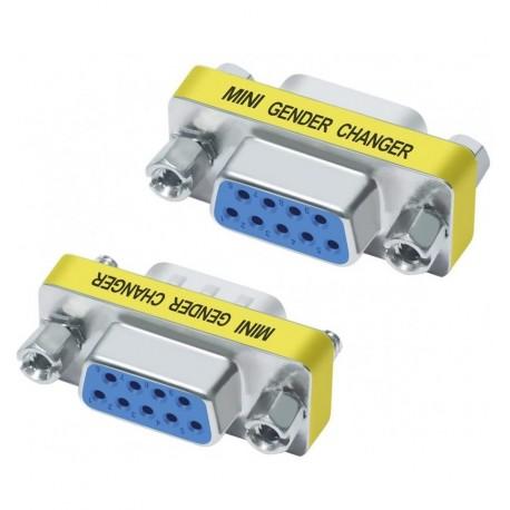 Mini Gender Changer Standard DB 9 poli F/F IADAP 735-09