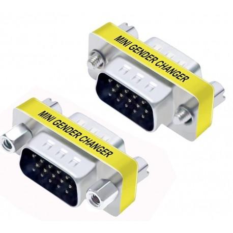 Mini Gender Changer VGA DB 15 poli HD M/M IADAP 734-15HD