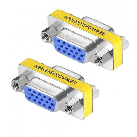 Mini Gender Changer VGA DB 15 poli HD F/F IADAP 735-15HD