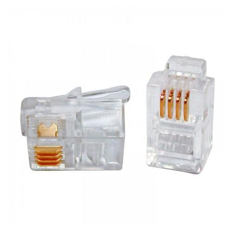 Plug Telefonico RJ14/RJ11 6 poli 4 contatti IWP-6P4C-1
