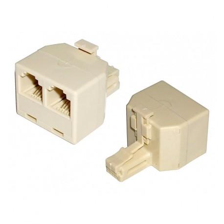 Accoppiatore telefonico duplex 6P6C M a 2x 6P4C F IWP-ADAP-13/66