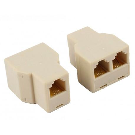 Accoppiatore telefonico 2 x 6P4C F a 6P4C F IWP-ADAP-0314