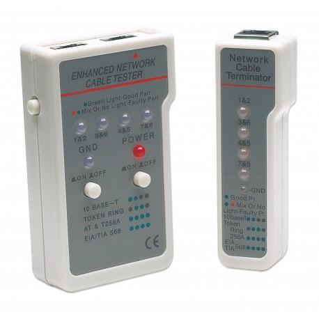 Tester Multifunzione per Cavi di Rete RJ45 / RJ11 I-CT EN-01