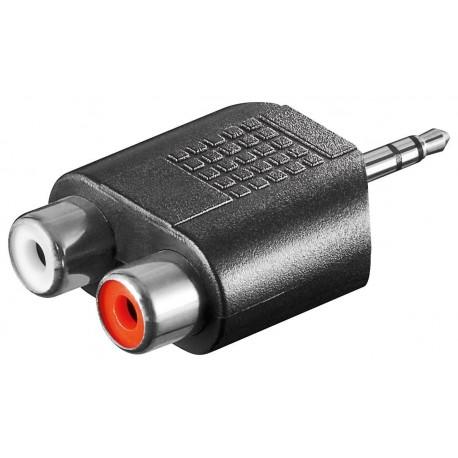 Adattatore Audio 3.5mm Maschio a 2 RCA Stereo Femmina IADAP AU-3M2RCA
