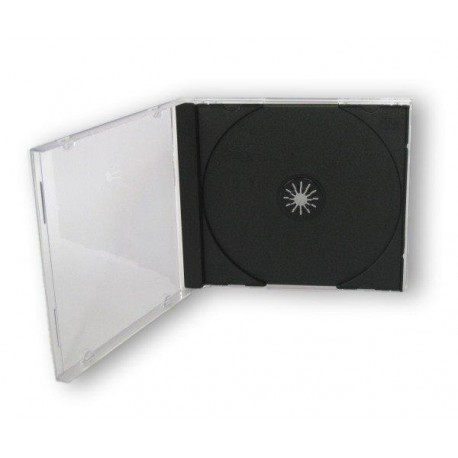 Porta Cd Jewel Case Nero 10