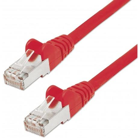 Cavo di rete Patch in Rame Schermato Cat. 5e Rosso FTP 10 mt ICOC F5E-100-RE