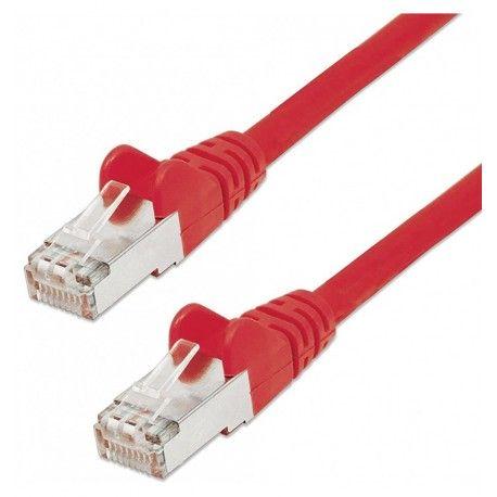 Cavo di rete Patch in Rame Schermato Cat. 5e Rosso FTP 30 mt ICOC F5E-300-RE