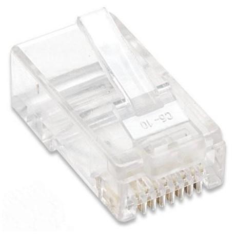 Plug Modulari RJ45 Cat5E per Cavo Rigido UTP IWP-8P8C-ITP7