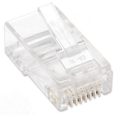 Plug Modulari RJ45 Cat6 per Cavo Flessibile UTP IWP-8P8C-R6S