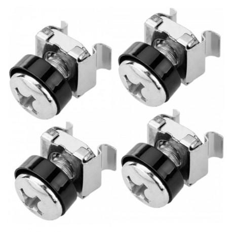 Kit Set 50 Viti 50 Dadi e 50 Rondelle per Montaggio Rack Silver I-CASE MOUNT50