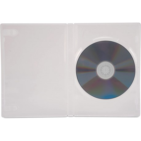 Custodia per DVD/CD BOX Trasparente ICA-DVD-CLEAR