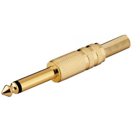 Connettore Audio 6.35mm Mono Nero IADAP AU-63-MMB