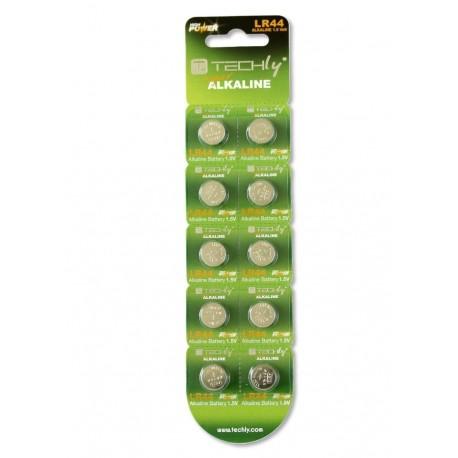 Batteria a Bottone Alcalina AG13 LR44 A76 GP76A 357 (set 10 pz) IBT-KLR44