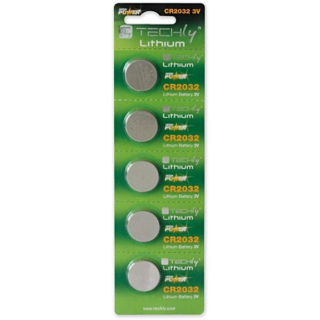Batterie a Bottone Litio CR2032 (set 5 pz) IBT-KCR2032