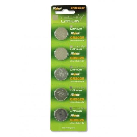 Batterie a bottone Litio CR2025 (set 5 pz) IBT-KCR2025