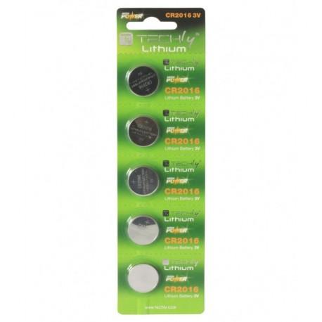 Batterie a Bottone Litio CR2016 (set 5 pz) IBT-KCR2016