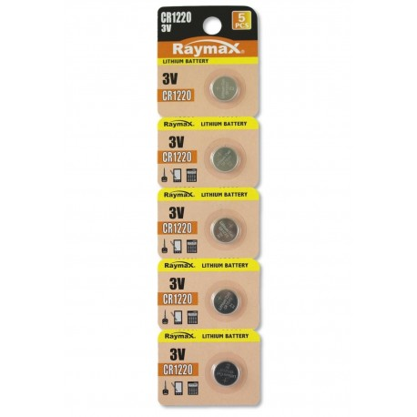 Batterie a bottone Litio CR1220 (set 5 pz) IBT-KCR1220