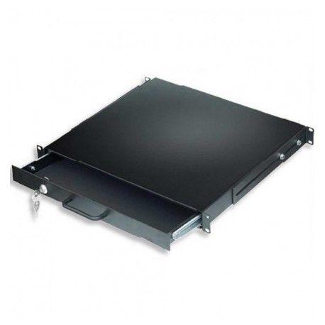 Cassetto Porta Tastiera 1U per Armadi Rack 19'' con Serratura Nero I-CASE KEY-BK