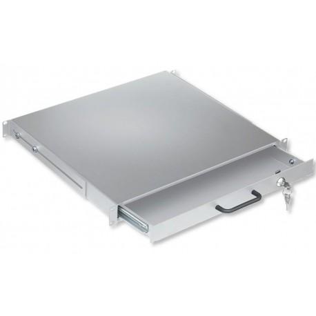 Cassetto Porta Tastiera 1U per Armadi Rack 19'' con Serratura Grigio I-CASE KEY-BG