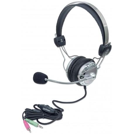 Cuffia Stereo con Microfono con Asta Flessibile ICC SH-517