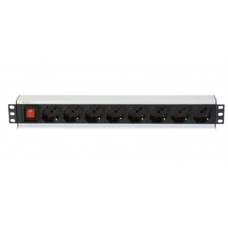 Multipresa per rack 19'' 8 posti con interruttore I-CASE STRIP-18A