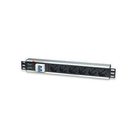 Multipresa per rack 19'' 6 posti con magnetotermico I-CASE STRIP-16A