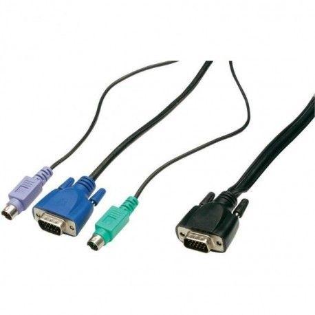 Cavo KVM switch HDB15/PS2 Mt. 3