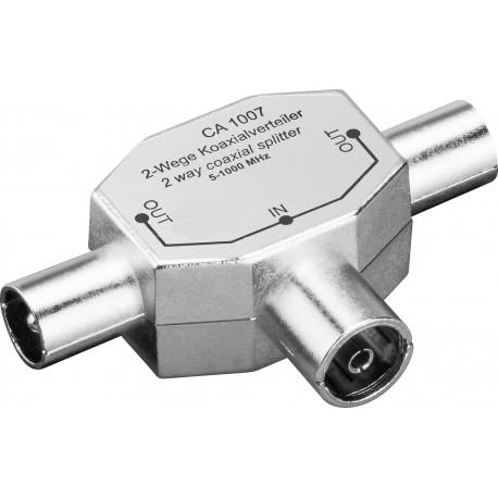 Sdoppiatore per Antenna TV 2 Maschio/Femmina 9.5 mm IADAP SAT-008
