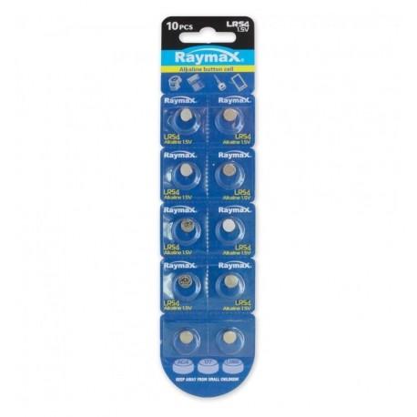 Batterie a bottone Alcalina LR54 LR1130 189 AG10 (set 10 pz) IBT-KLR54