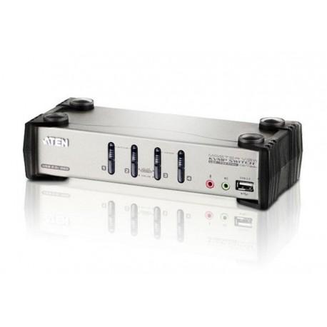 KVM VGA audio Switch 4 porte USB/PS2 OSD