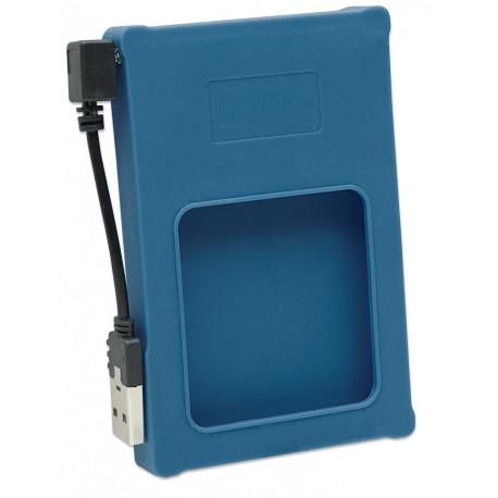 Box esterno 2.5'' SATA USB2.0 Silicone Blu I-CASE SIL-25BL