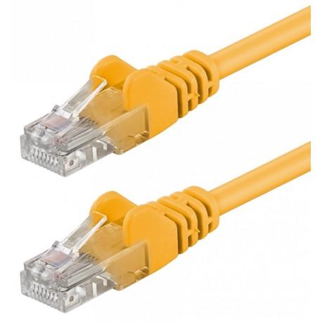 Cavo di rete Patch CCA Cat. 5e Giallo UTP 1 mt ICOC CCA5U-010-YE