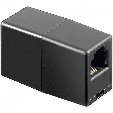 Accoppiatore telefonico RJ11 6 poli 4 contatti Pin to Pin F/F Nero IWP-ADAP-4/4BK