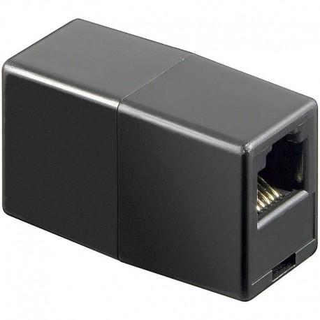 Adattatore Telefonico RJ12 6 poli 6 contatti Pin to Pin F/F Nero IWP-ADAP-6/6BK