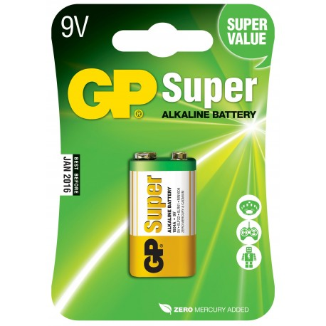Blister 1 Batteria 9V GP Super IC-GP5516